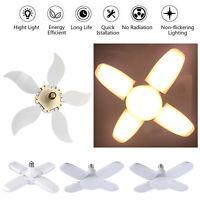 E27 60W/75W Deformable LED Garage Light Fan Blade Angle Adjustable Ceiling Lamp