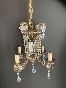 Currey & Company Serendipity 4 Light mini Chandelier Rhine Gold NIB