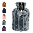 Cute Rubber Stress Pain Relief Therapy Warm Hot Water Bottle Bag w/ Fluffy Cover