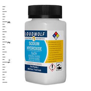 Sodium Hydroxide 4 Oz Food Grade Fine Powder USA SELLER