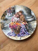 Royal Doulton Collectors Plate The Flower Sellers Children Neil Faulkner VGC