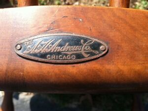 A.H. Andrew Co. Chicago, Windsor chairs, 1930, American walnut, set of 3 chairs