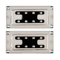 Humbucker Bridge and Neck Set Pickups for Bass Guitar Parts Chrome
