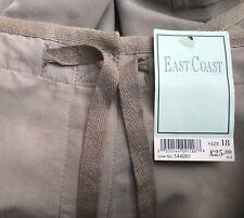 NWTEast Coast Beige/Grey Ladies Lightweight Trousers Size 18