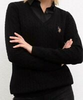 US Polo Assn. Damen Pullover, Pulli, Cable Knit Sweater, Alle Großen