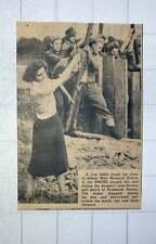 1949 Miss Margaret Howie Plays Golf Shot Next To 500lb Bomb Richmond Surrey