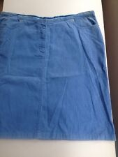 Monsoon Corduroy Skirt Just above knee length light blue Size 18