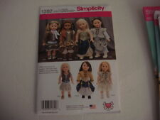 "New Simplicity Pattern 1392  Steampunk Style 18"" American Girl  Doll Clothes"