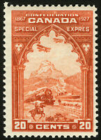 Canada E3 20c Orange 1927 VF *MLH* Post Office Fresh