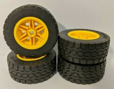 4 x NEW LEGO Technic Wheels (49.5 x 20 Tyres) - 15413 56145 - FREE POSTAGE