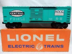 POSTWAR LIONEL 6464-900 JADE GREEN NEW YORK CENTRAL BOXCAR in OB, C-8 LN