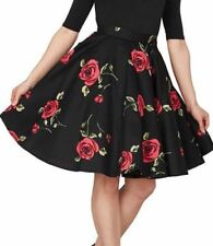 Gonne e minigonne da donna neri floreale in misto cotone