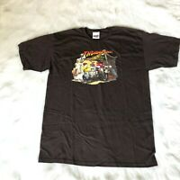 Indiana Jones M&M's Men's Size Large Brown Graphic T-Shirt 2008
