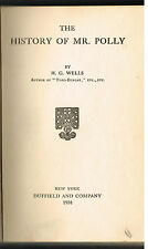 The History of Mr. Polly by H.G. Wells 1910 1st Ed. Vintage Book! $