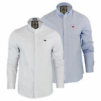 Mens Shirt Brave Soul Pompei Long Sleeve Oxford Cotton Collared Casual Top