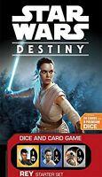 R2B29 STAR WARS DESTINY - DICE & CARD GAME * REY - STARTER SET PACK * NEW BOXED