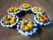 "1 Set Thai Dessert Miniature Handcraft ""Kanom Thai"" Ceramic Collectible NC1"