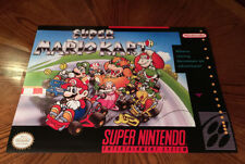 "Super Mario Kart SNES video game cover art 24"" poster print Super Nintendo"