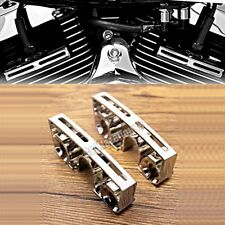 1Pair Chrome Spark Plug Head Bolt Covers For Harley Dyna Softail Twin Cam 99-17
