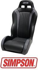 Simpson Vortex Front Seat - Black / Black for 14-17 Polaris RZR XP 1000 & Turbo