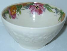 Crown Ducal Gainsborough Art Deco Pink Yellow Green Open Sugar Bowl