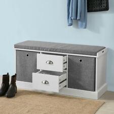 SoBuy® Hallway Shoe Storage Bench Cabinet with 2 Baskets and Drawers FSR66-HG,UK
