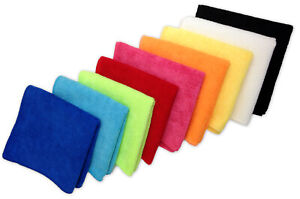 """48 Microfiber 16""""x16"""" Cleaning/Auto Detailing Cloths, 300GSM, PRO GRADE, USA"""