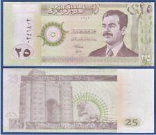 Iraq 25 Dinar 2001 (UNC) 全新 伊拉克 25第纳尔纸币