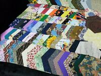 "Lot of 100 Hexagon Shaped Die Cut Fabric Crafting Quilting 3"" and 4 1/2"" Across"