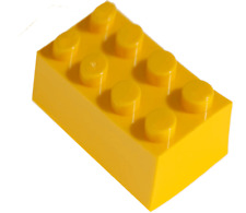 200 Pieces Generic Yellow 2x4 bricks Building blocks, compatible to Lego 2x4