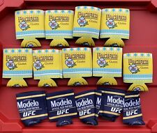 Lot of 14 Koozies 9 Pacifico Clara Beer and 5 Ufc Modelo All New