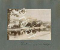 7 Fotos WK 1 Verdun Stadt 1914 Soldaten abgestürztes Flugzeug Grab B 1.56