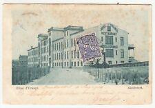 Netherlands: Postcard, Hotel d'Orange; Zandvoort to Amsterdam, 13 August 1900
