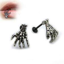 Women Skull Hand Lip Piercing Jewelry Punk Piercing Skeleton Lip  Labret FT