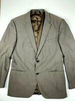 HUGO BOSS Super 120 Mens Blazer Sports Coat 100% Virgin Wool Size 42R Brown