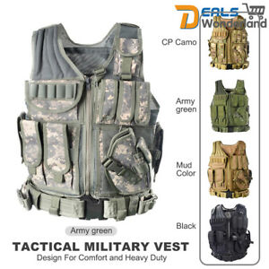 Military Tactical Vest Army Paintball Airsoft Combat Assault Adjustable Armor