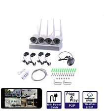 [Full HD] 4 Channel 1080P 4 Channels Wireless Network Video  Security System IP