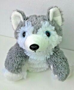 Husky Hand Puppet Puppy Dog Wolf Plush Grey White Soft Stuffed Toy Pretend Play