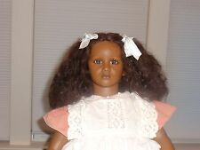 """FATOU"" Annette Himstedt Black Doll from the Barefoot Children Series ~ 1987"