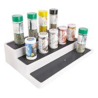 UPP Küchenregal ausziehbar 3 Etagen mit Anti-Rutsch Ablagen Regal Gewürzregal...