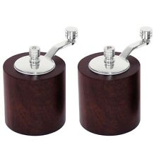 Dark Wood Salt and Pepper Mill Grinder Set Condiments Set Grinder Shaker
