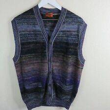 Missoni Wool Mohair Blend Button Up Cardigan Vest
