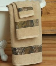 REALTREE AP CAMOUFLAGE BATH ACCESSORIES -3 PC TOWEL SET, BATH & HAND & WASHCLOTH
