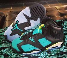 2014 Kids Nike Air Jordan 6 Retro VI GG SZ 6.5Y Turbo Green Volt Aqua 543390-043