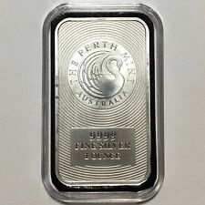 Perth Mint Swan 1 oz Australian 9999 Silver Kangaroo Bar in CUSTOM CAPSULE