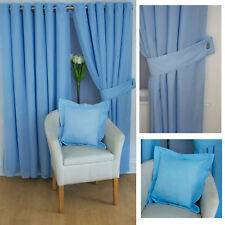 Voile LINED Ring Top Curtains, voile tie backs £1.50 a pair & Cushions £2 SALE