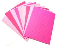 10 HEARTS DIAGONAL Embossed A2 Card Fronts Core'dinations Pink Cardstock