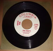 CURTIS KING: Bad Habits / So Nice While It Lasted 45  DJ Promo - 1967 Mint soul