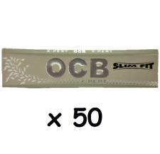 Lot de 50 paquets de feuilles OCB slim xpert /x-pert fit gris en vrac sans boite