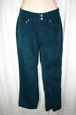 Victorias Secret LONDON JEAN Sz 0 Short Teal Green Stretch Corduroy Pants